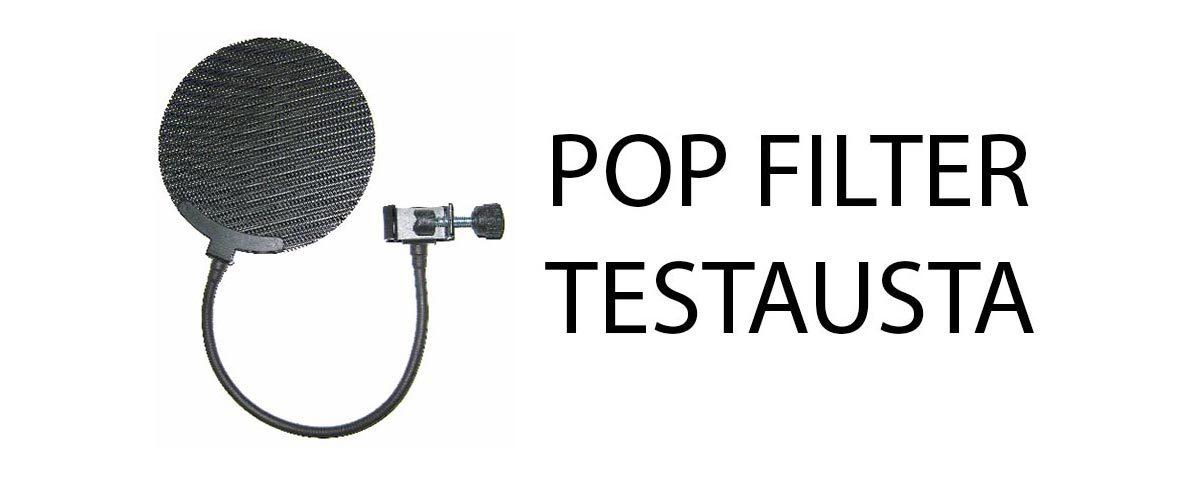 Pop filter testiä videon muodossa